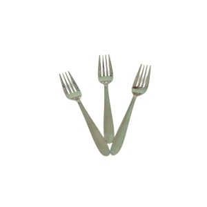STAINLESS STEEL SILVER TABLE FORK 16G BIG ( 3 PCS )