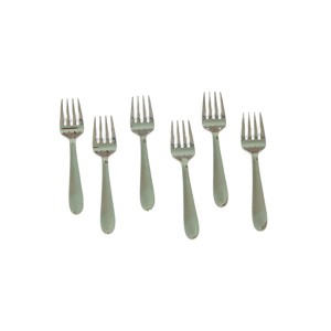 STAINLESS STEEL AROOFA BABY FORK 16G (  6 PCS )
