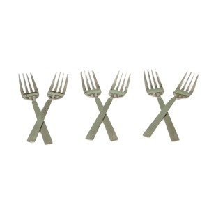 STAINLESS STEEL SILVER TEA FORK 16G (  6 PCS )