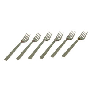 STAINLESS STEEL SILVER DESSERT FORK 16G BIG ( 6 PCS )