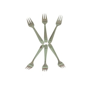 STAINLESS STEEL AROOFA FRUIT FORK 16G SMALL(  6 PCS )